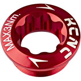 KCNC Tornillo Biela para Biela Izquierda Shimano, rojo